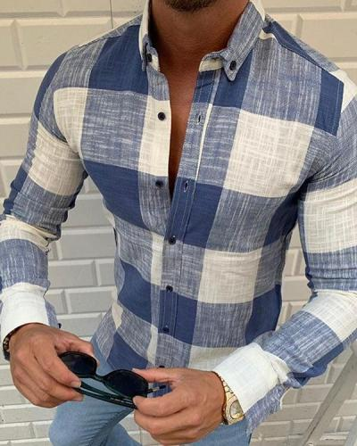 Men's Basic Shirt Long Sleeve Casual T-Shirt