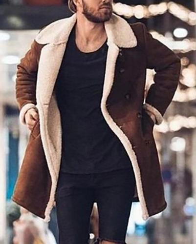 Fashion Fleece Composite Suede Overcoat