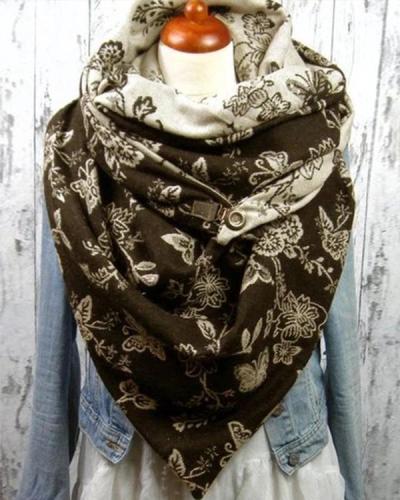 Women Printed Scarf Shawl Multi-purpose Neck Wrap Warm Scarf