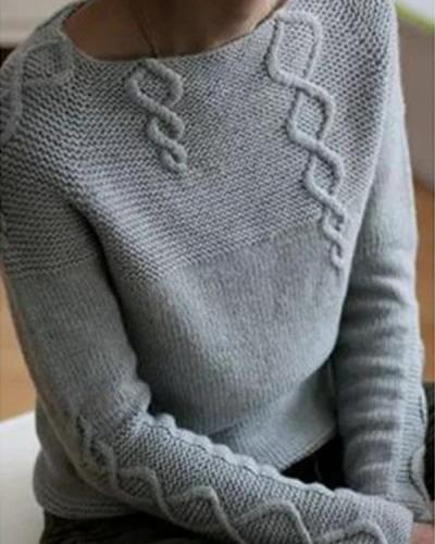 Women Long Sleeves Solid Sweaters