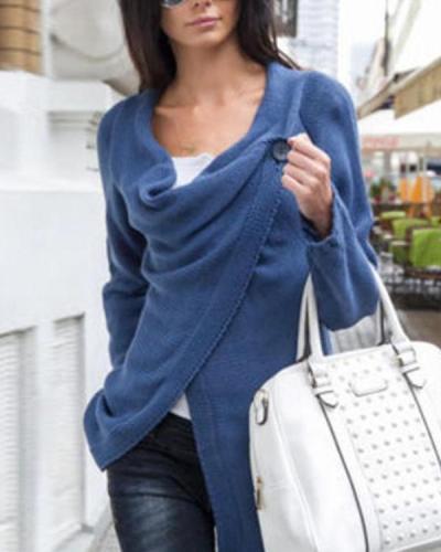 Sexy Jumper Top Cardigan Split Wrap Sweater