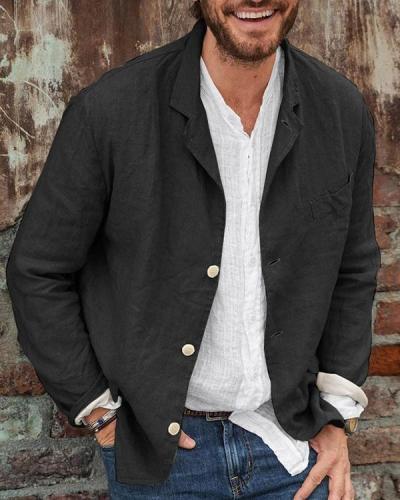 Men's Casual Linen Blazer Jacket