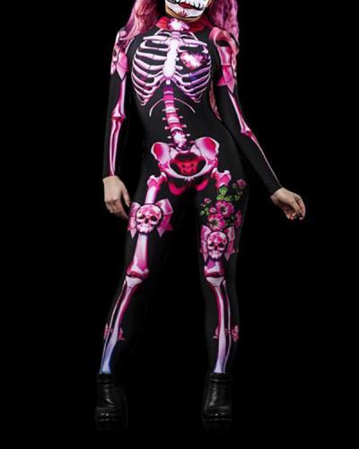 Halloween Children Costume Full body Skull Skeleton Jumpsuit