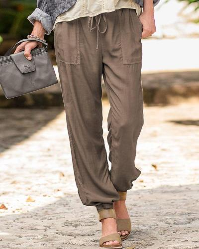 Plus Size Women's Cotton Trousers