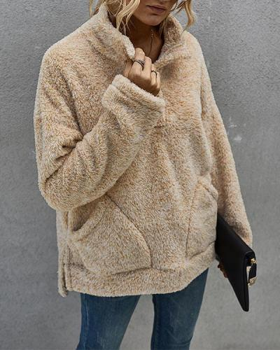 Women Autumn Winter Warm Fashion Fleece Sweatshirts