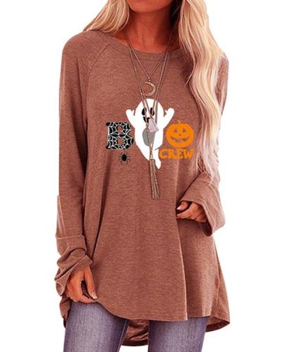 Halloween Pumpkin Pattern Long Sleeve T-shirt