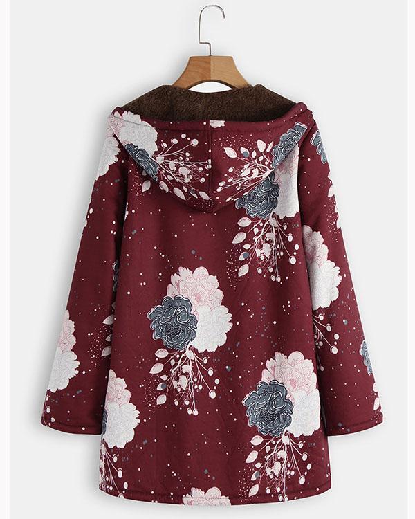 Women's Long Sleeve Coats Cotton Linen Fluffy Fur Zipper Parkas Hoodies
