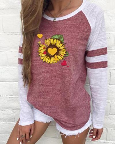 Sunflower Women Fall Round Neck  Casual Shirts & Tops