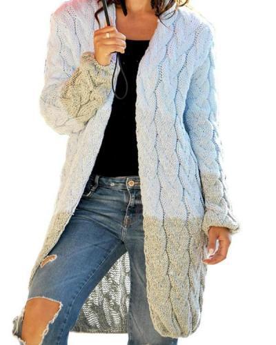 Winter Women Open Front Long Sweater Cardigan