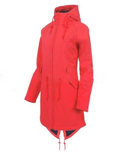 Long Sleeve Hooded Zipper Pockets Coats