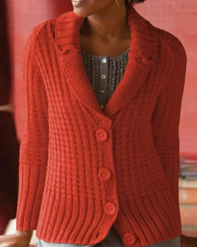 Vintage Plus Size Shawl Collar Sweater Cardigan