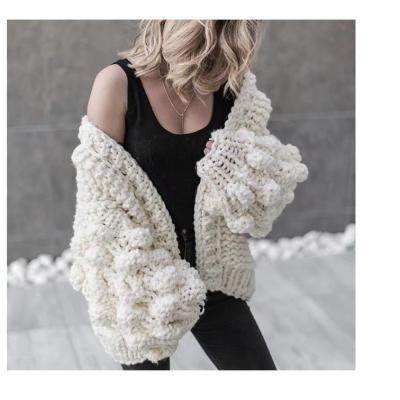 Handmade Ball Lantern Sleeves Sweater