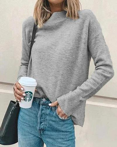 Women Casual Turtleneck Pullover Tops