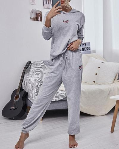Casual Loose Hooded Sports Suits for Women
