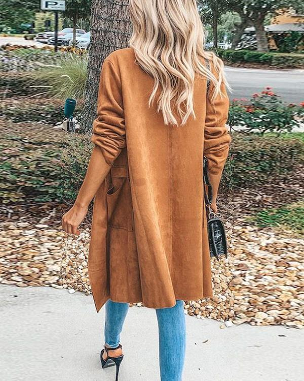Women Fashion Fall Winter Trench Coat