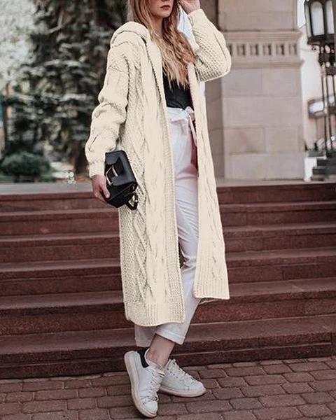 Longs Sweater Wind Coat Women Fall Solid Fashionable Outwear Coat