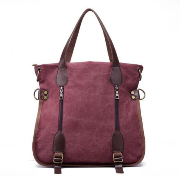 Vintage Casual Canvas Handbag Retro Crossbody Bag
