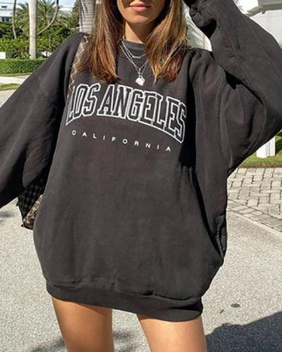 Fashion Street Shot Letter Sweatshirt