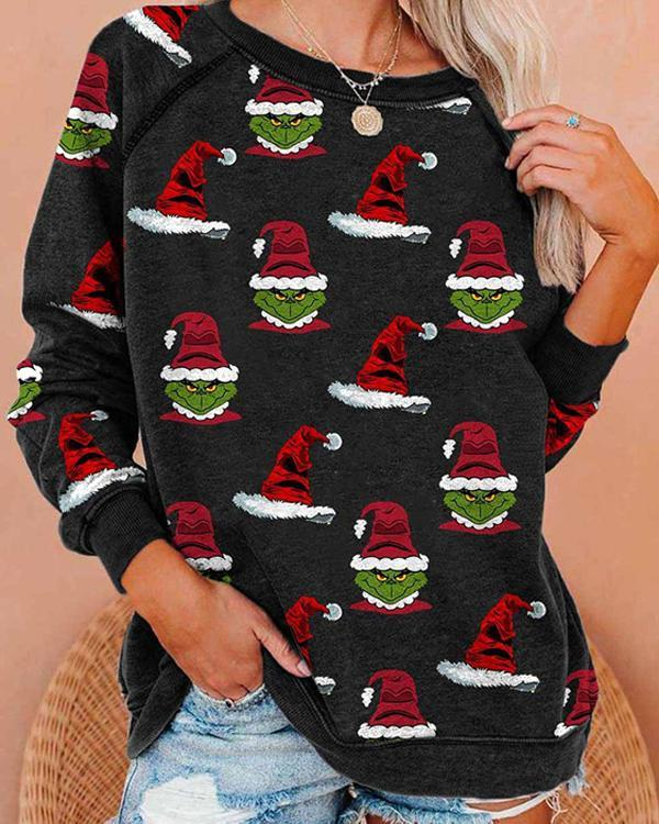 Christmas Print Cozy Sweatshirt