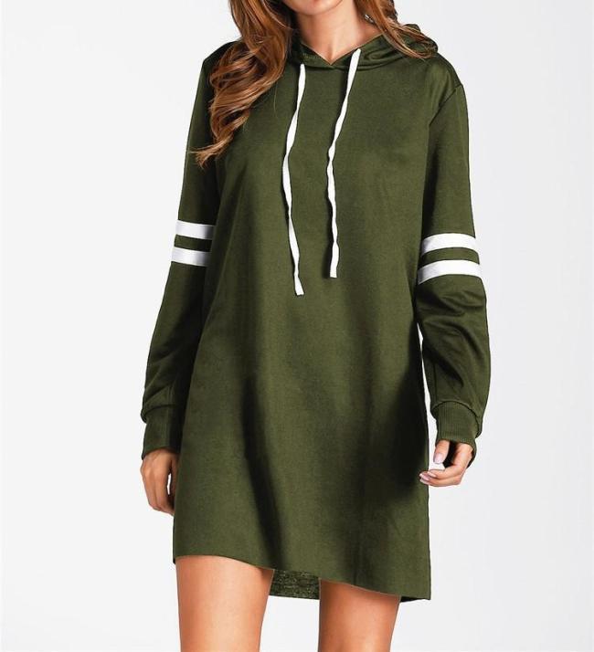 Women Fashion Hot Long Sleeve Long Sweatshirt Pullover Hoodie Dress