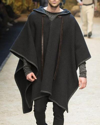 Men's Loose Casual Hooded Coat