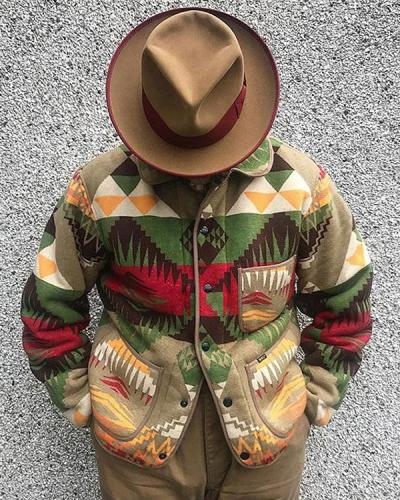 Flower Cotton Casual Outerwear