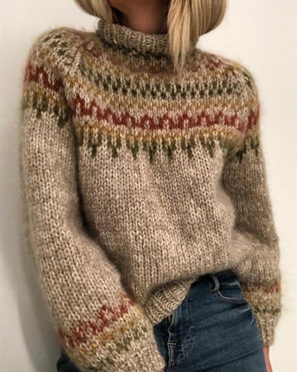 Women Daily Vintage Sweater
