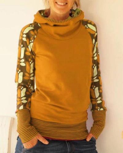 Long Sleeve Hoodie Casual Shirts & Tops