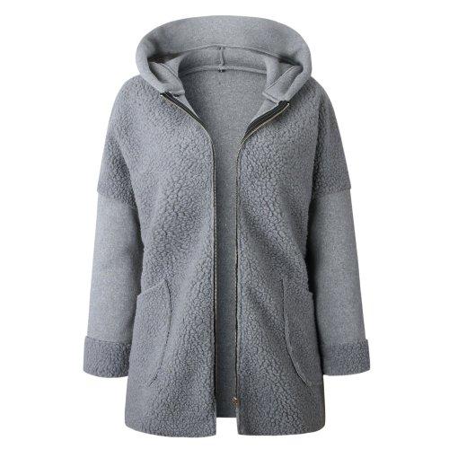 Women Fashion Hooded Coat