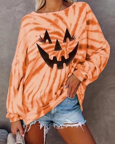 Halloween Printed Polyester Crew Neck Sweatshirts