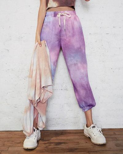 Women's Comfy Casual Tie Dye Sweatpants