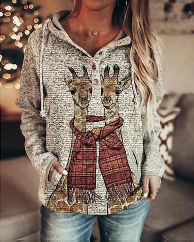 Fall & Winter Printed Long Sleeve Casual Sweatshirt