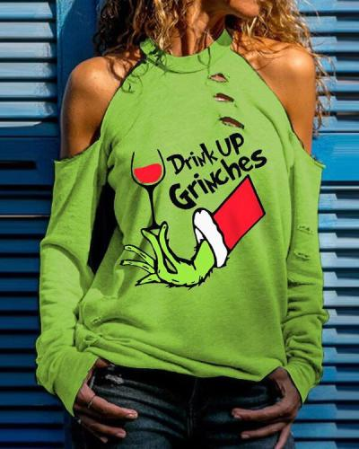 Women's  Drink Up Grinches  Print T-shirt