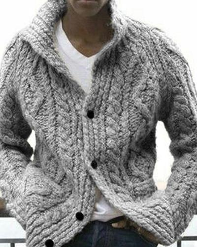 Men's Casual  Winter Sweater Outerwear