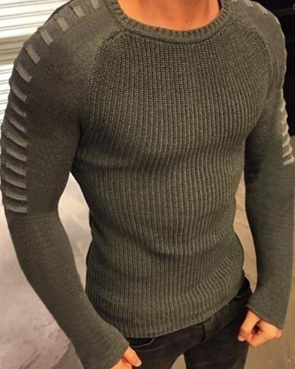 Men's  Basic Slim Long Sleeve Sweater