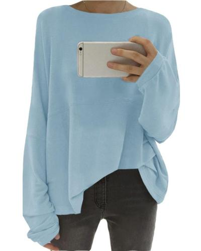Loose Long Sleeve Fall Casual Shirts & Tops