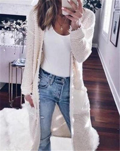 Fall Longs Cardigan Loose Casual Daily Overcoat Sweater
