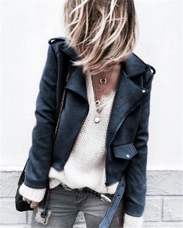 Fashion Solid Long Sleeve Overcoat Jacket