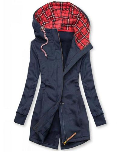 Women Daily Outdoor Solid Color Coats