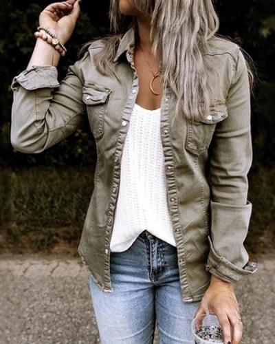 Women Casual Short Jacket Outerwear