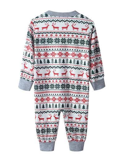 Baby's Stripe Print Parent-Child Family Christmas Loungewear