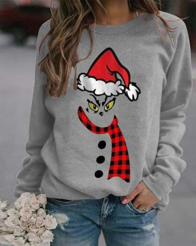Christmas Print Long Sleeves Casual Daily Sweatshirts