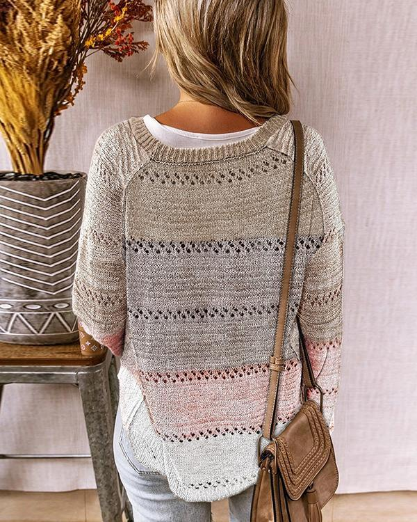 Women Autumn Long Sleeve Sweater With Buttons