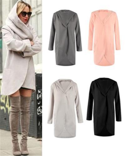 Women Oversized Hooded Loose Outwear Coat With Pocket