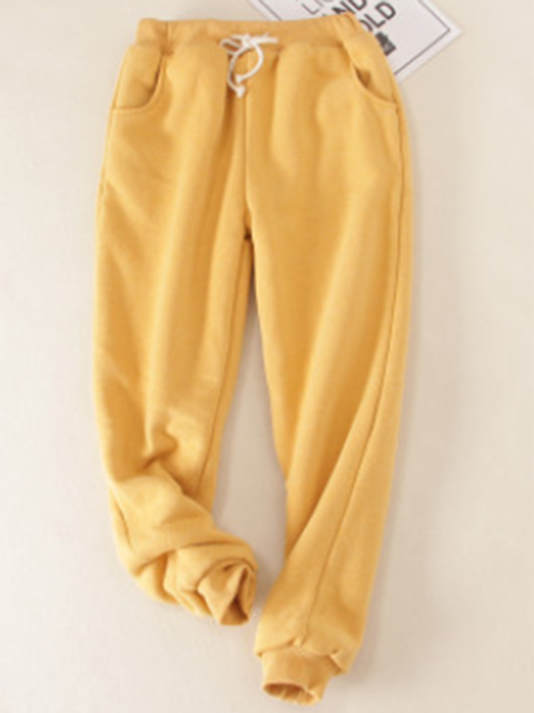 Cotton Casual Sport Super Soft Lined Jogger Sweatpants with Pockets
