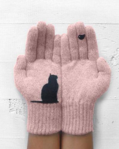 Bird and Cat Gloves