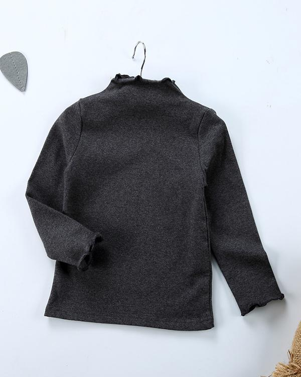 Baby / Toddler Solid Long-sleeve Casual Tee
