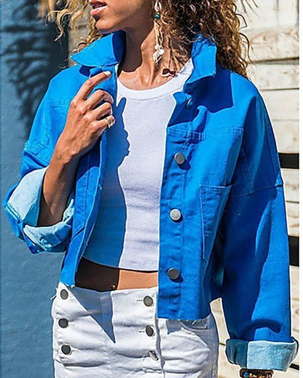 Women's Daily Short Jacket Solid Colored Jacket