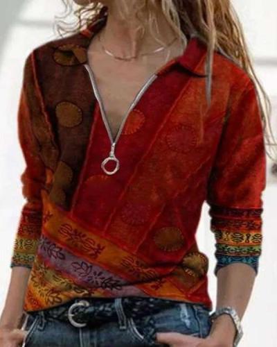 Sexy Long Sleeve Cotton-Blend Shirts & Tops