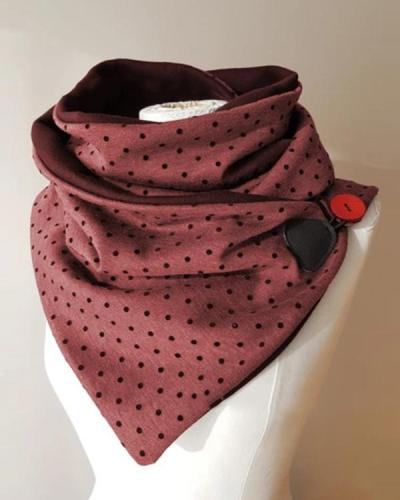 Women Printed Scarf Shawl Casual Scarf For Winter